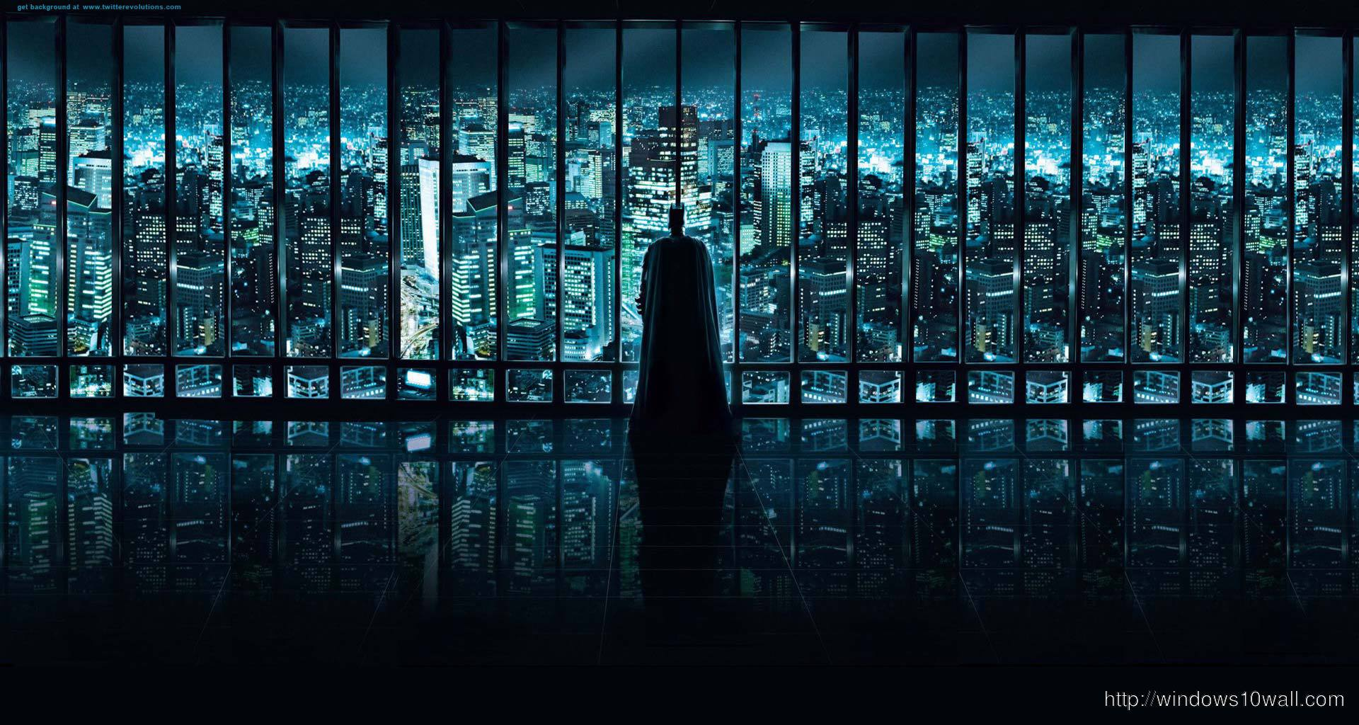 City Panoramic Batman Background Wallpaper