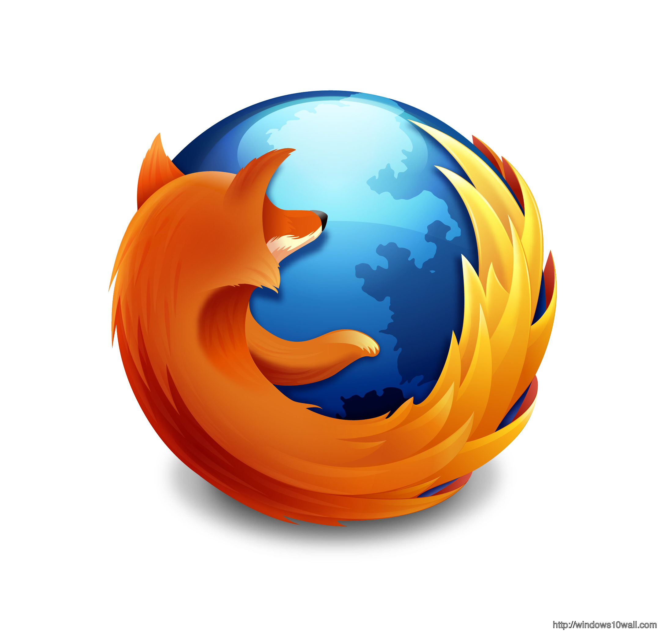 Mozilla Firefox Logo Background Wallpaper