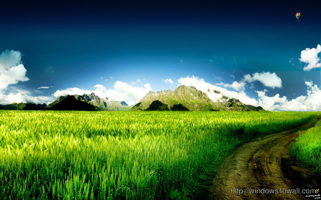 Animated Nature Background Picture With Green Grass Windows 10