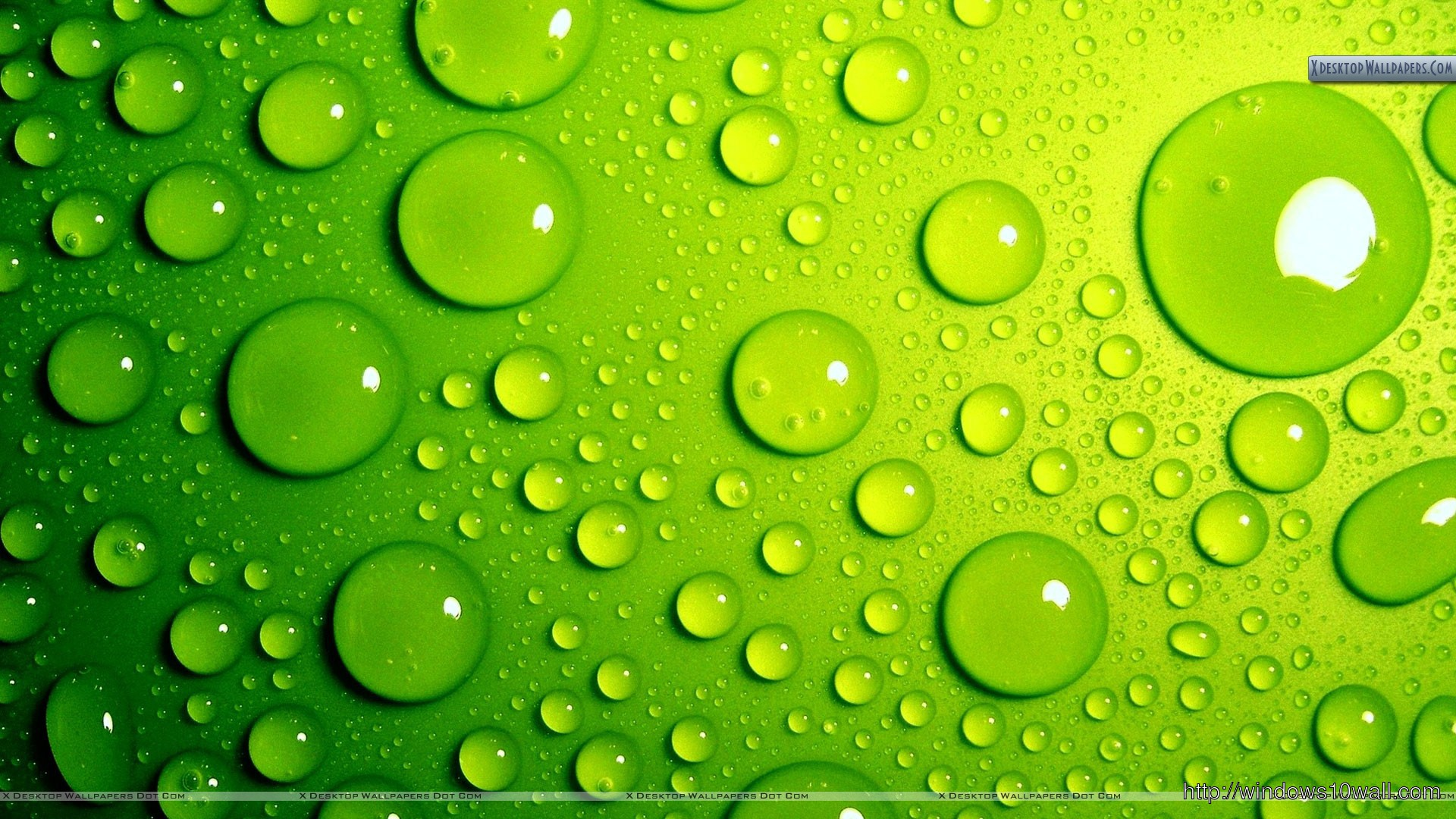 Green Bubbles Style Background Wallpaper