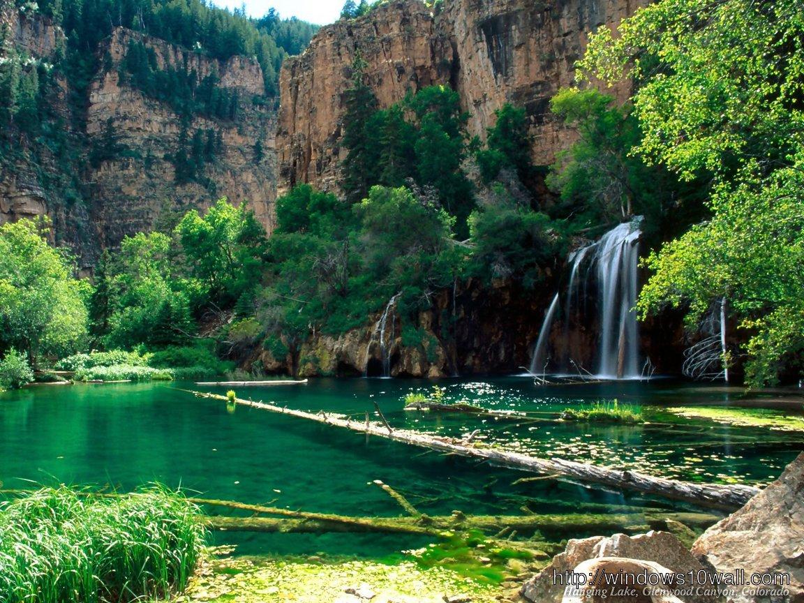 Greenish Waterfall Natural Wallpaper