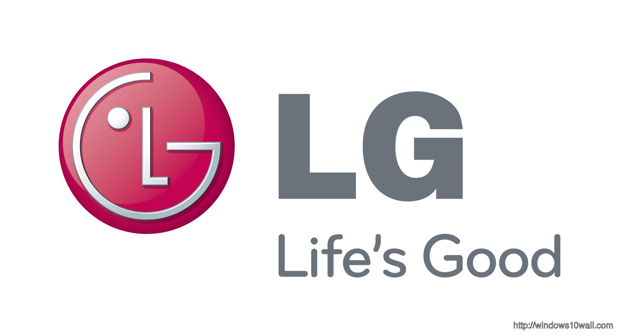 LG Life is Good Logo Background Wallpaper