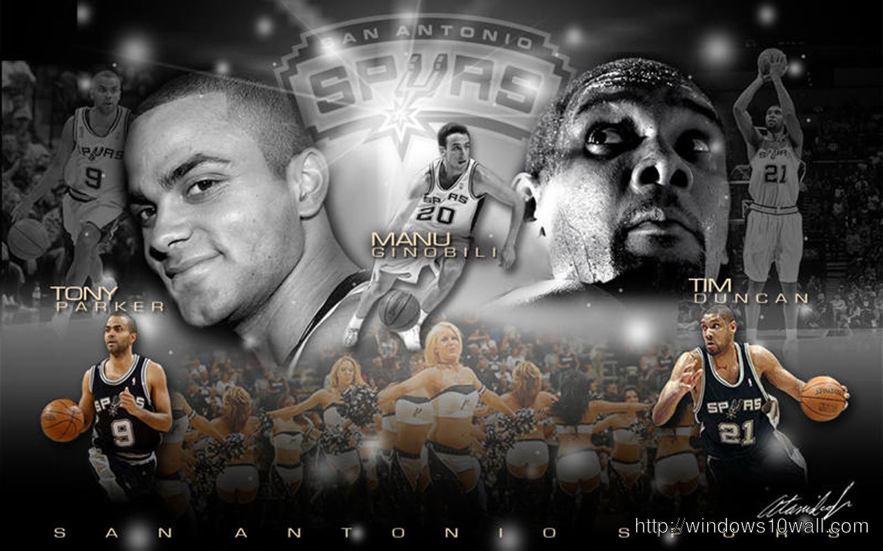 Tony Parker, Tim Duncan and Manu wallpaper