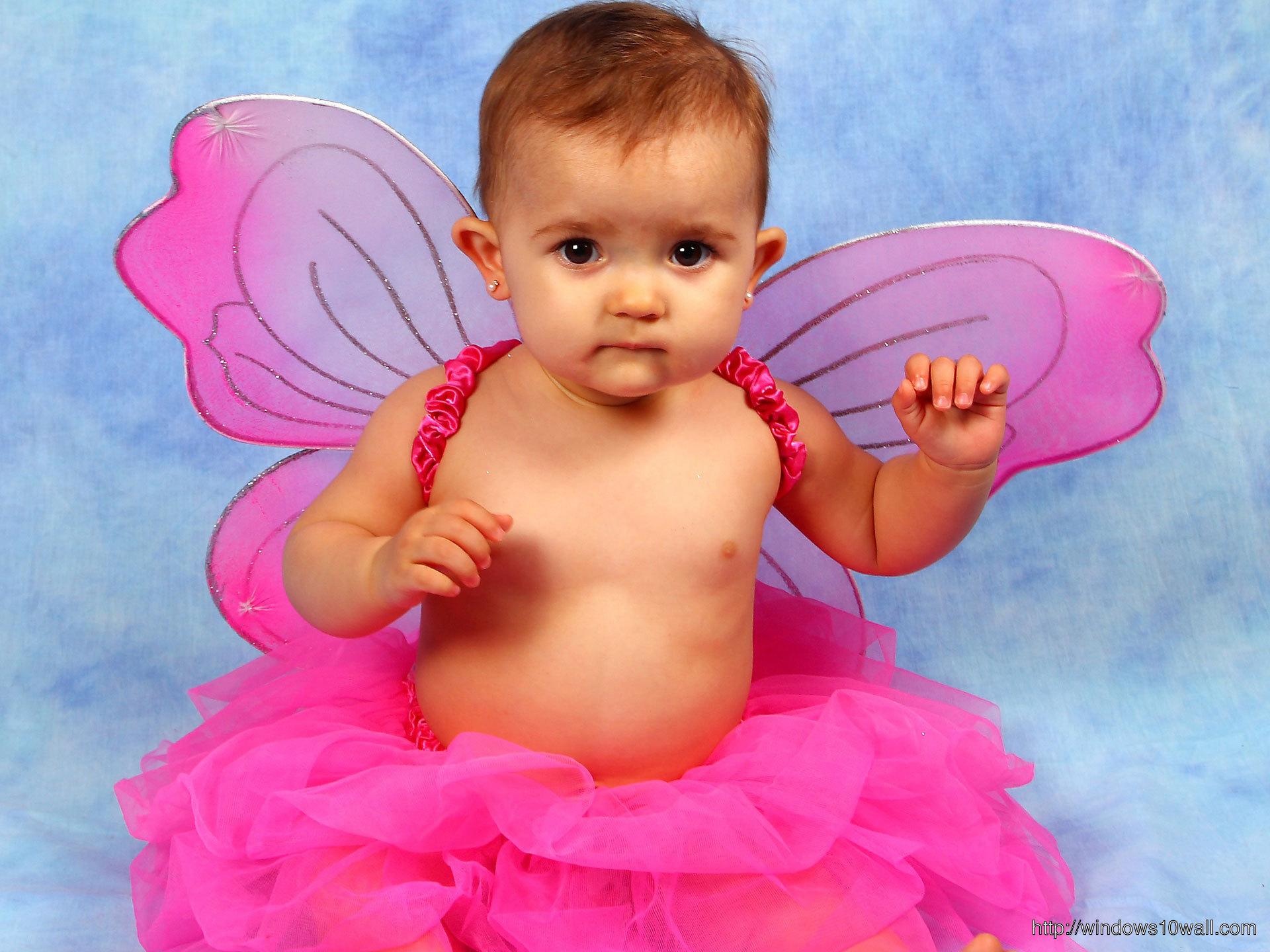 Cute Baby Girl in fancy dress Wallpapers