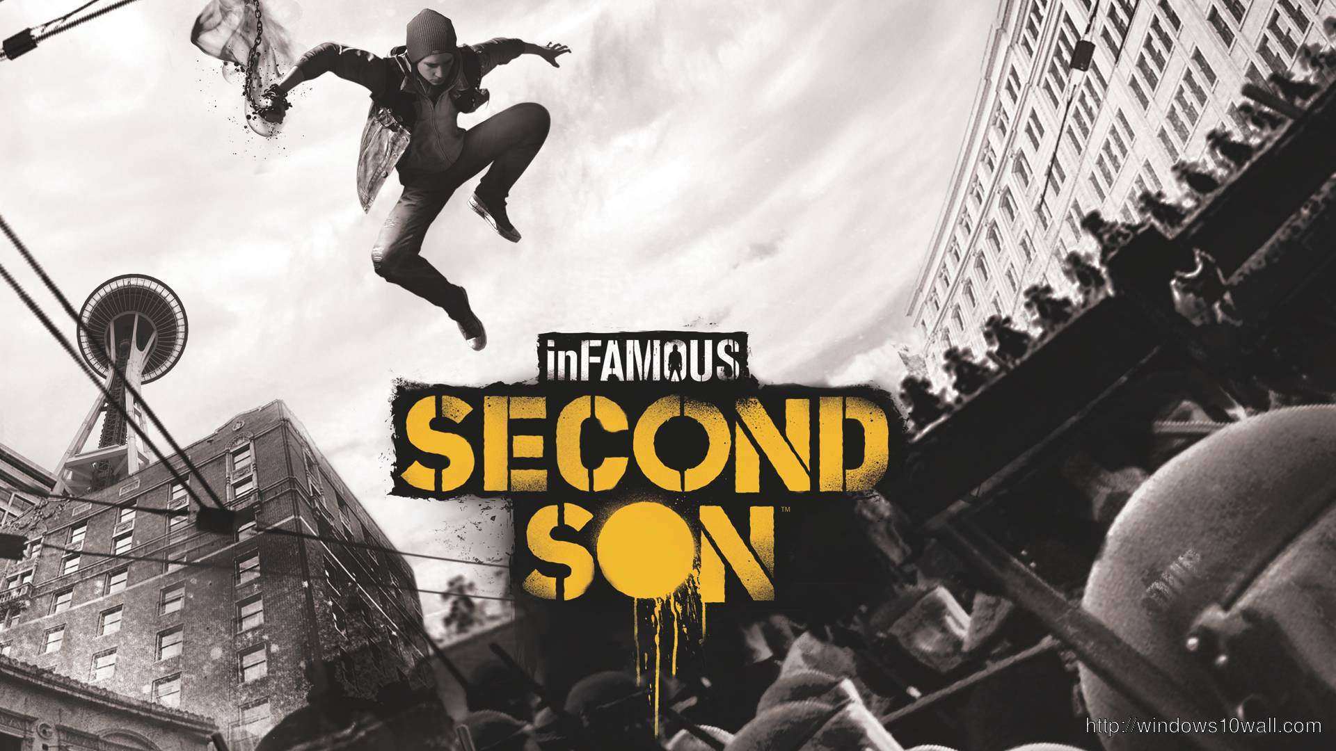 Infamous: Second Son – First In-Game PlayStation 4 wallpaper