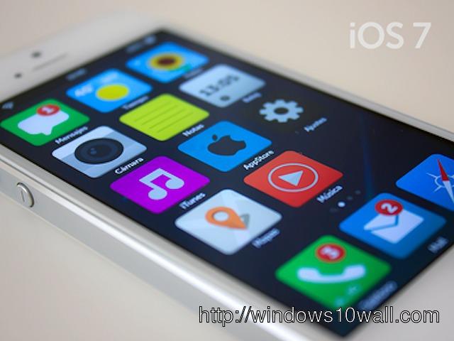 Το iOS 7 σε iPhone 5, iPhone 5S, iPad θα είναι flat