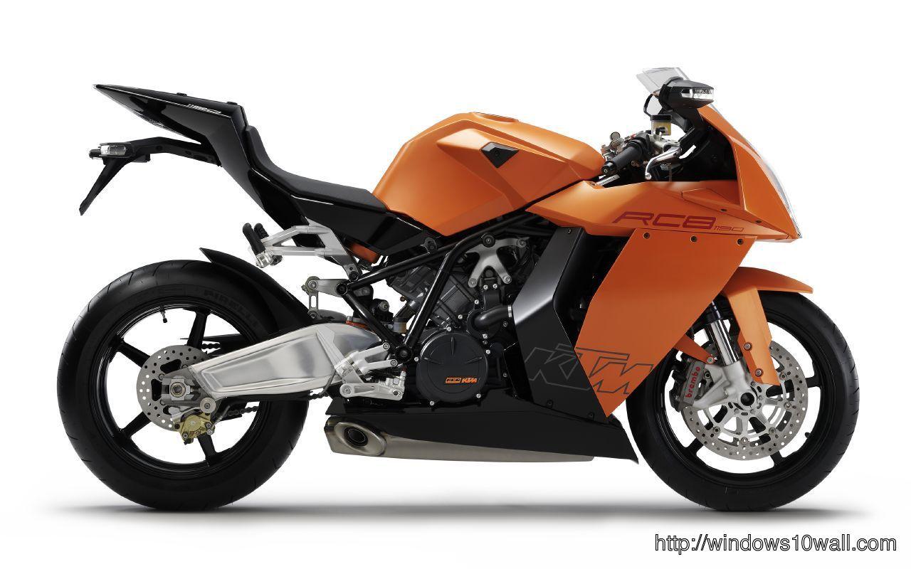 KTM 1190 RC8R Sport Bike Background  Wallpaper