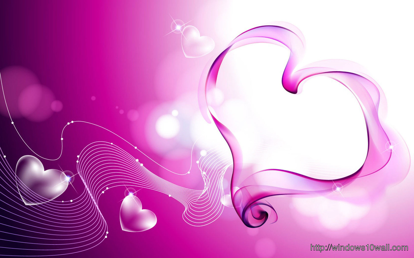 Beautiful pink heart wallpapers