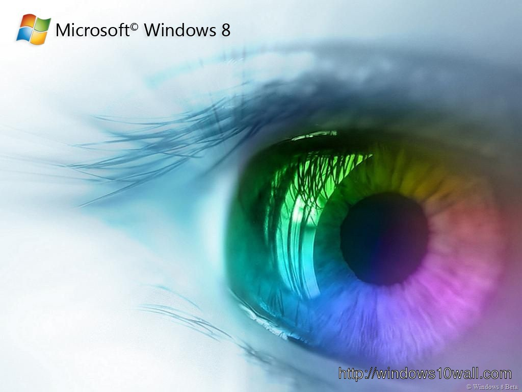 colouful eyes with windows 8 wallpaper