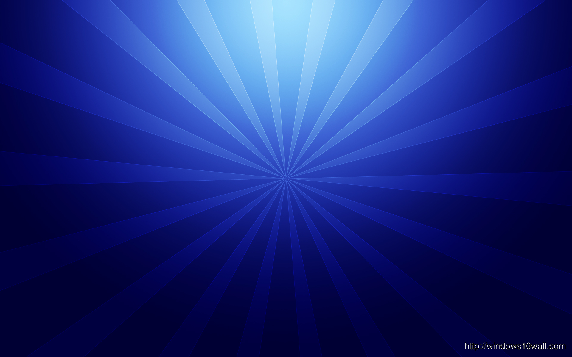 light rays coming out in blue background