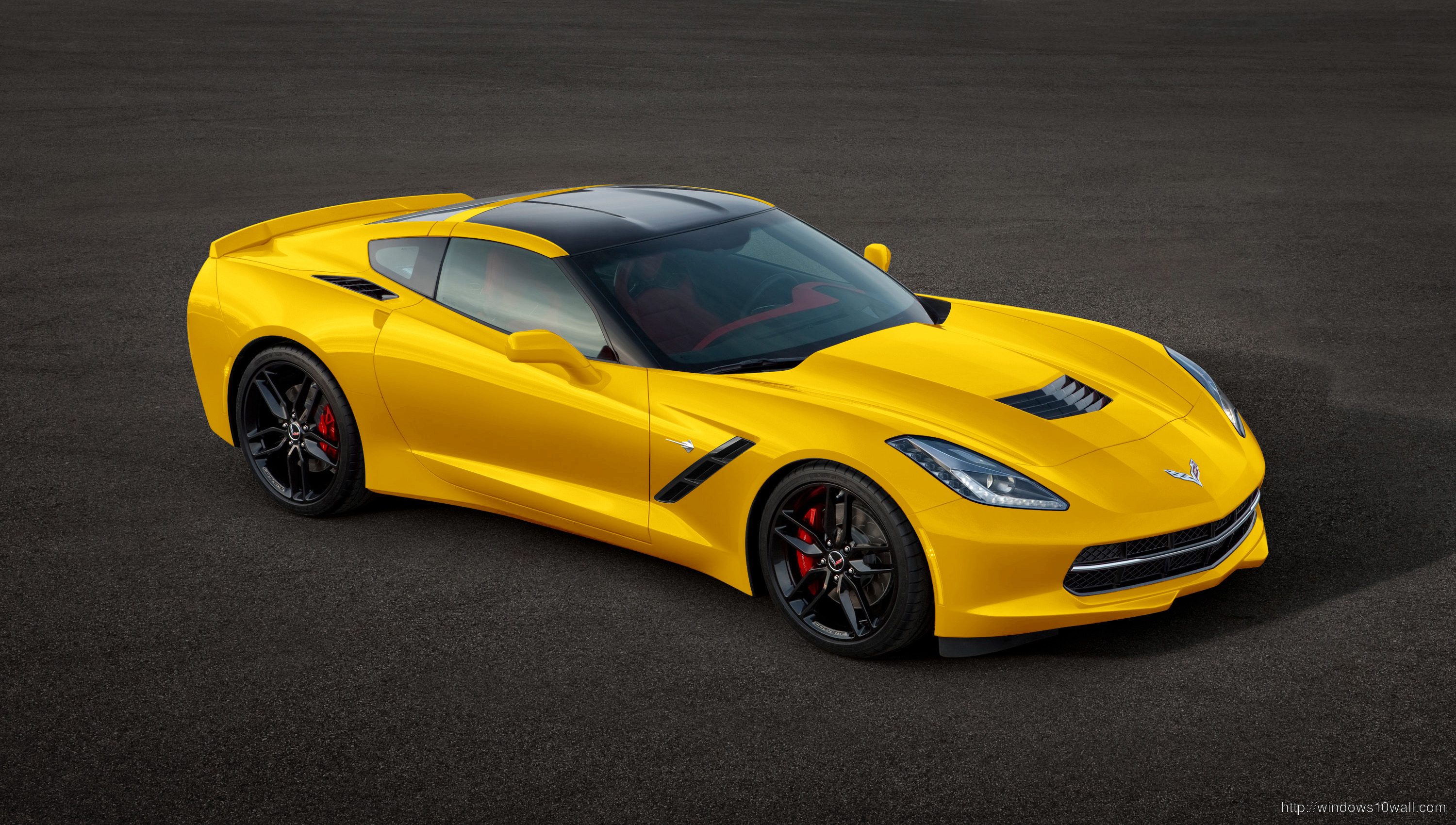 Yellow Chevrolet 2014 Corvette Stingray Wallpaper free