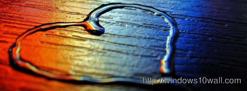 Lovely Heart Water Effect for Facebook Cover hd