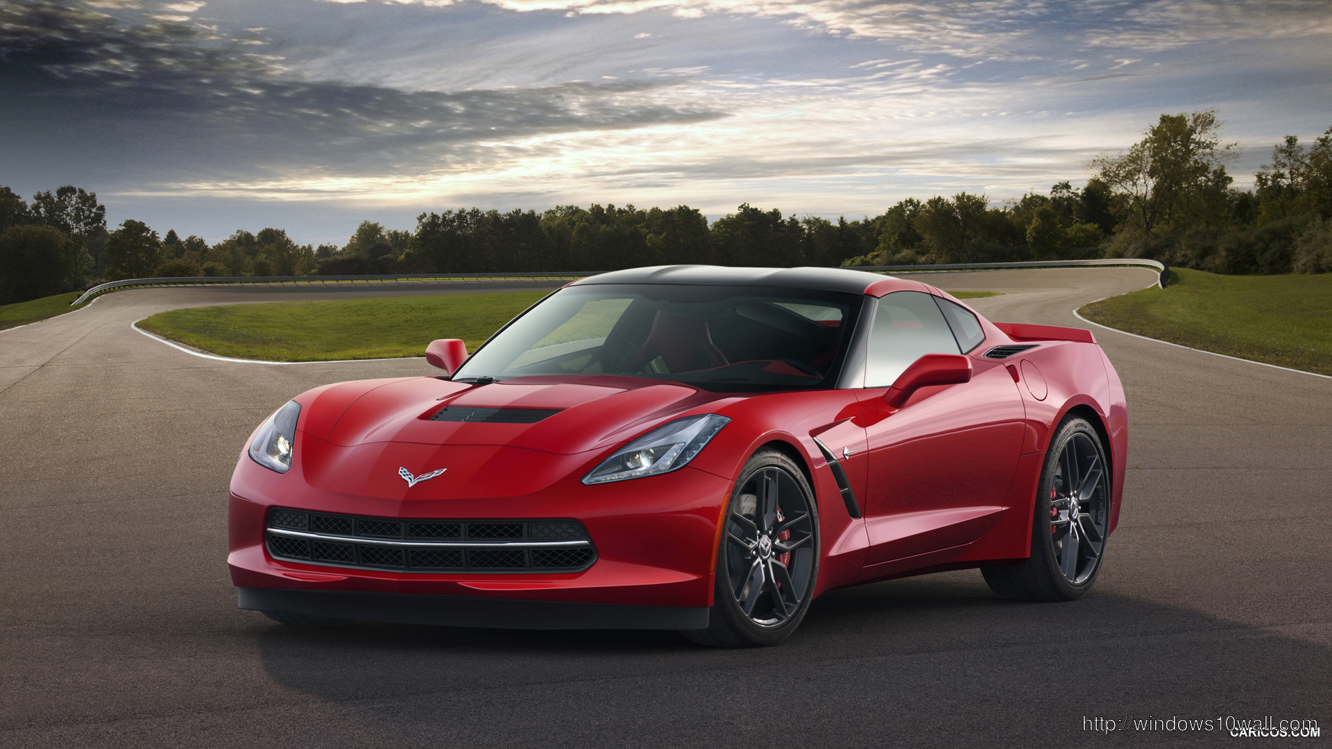 Red 2014 Corvette Stingray Wallpapers Desktop Background