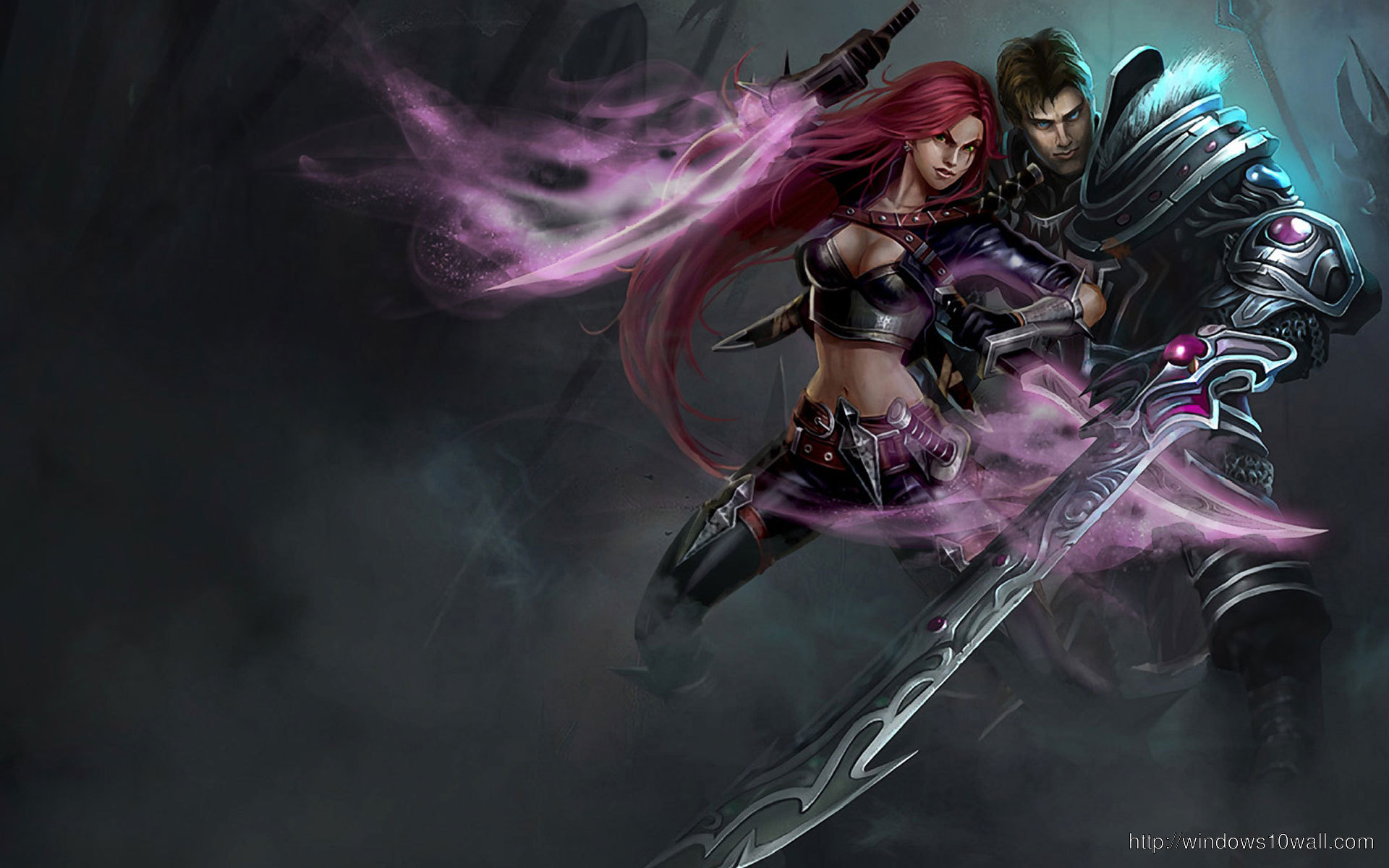 Garen Katarina LoL wallpaper free