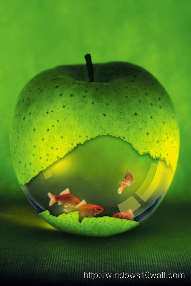 iphone 4 hd apple and fish wallpapers background