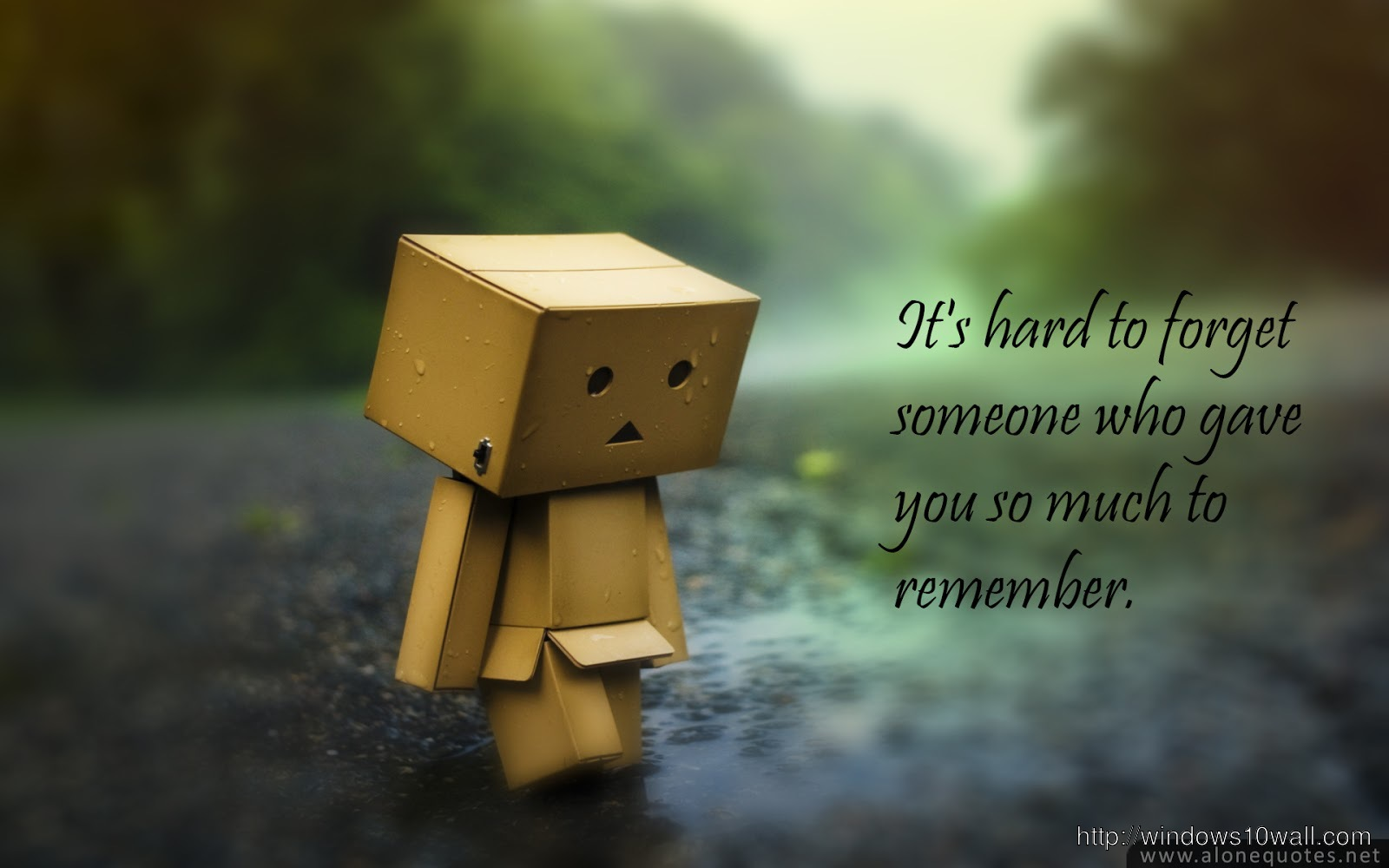 alone hd wallpaper with quote download free