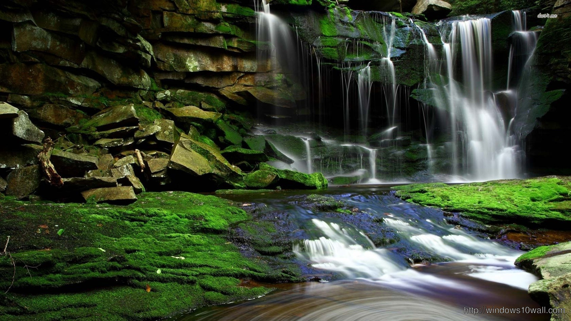 Clear Waterfall Next Wallpaper Windows 10 Wallpapers
