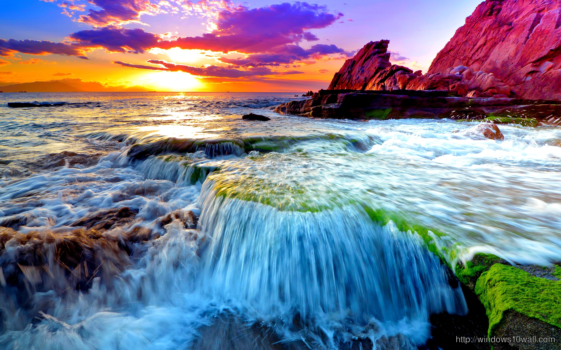 Beautiful Scene Of Earth Ocean Wallpaper Windows 10