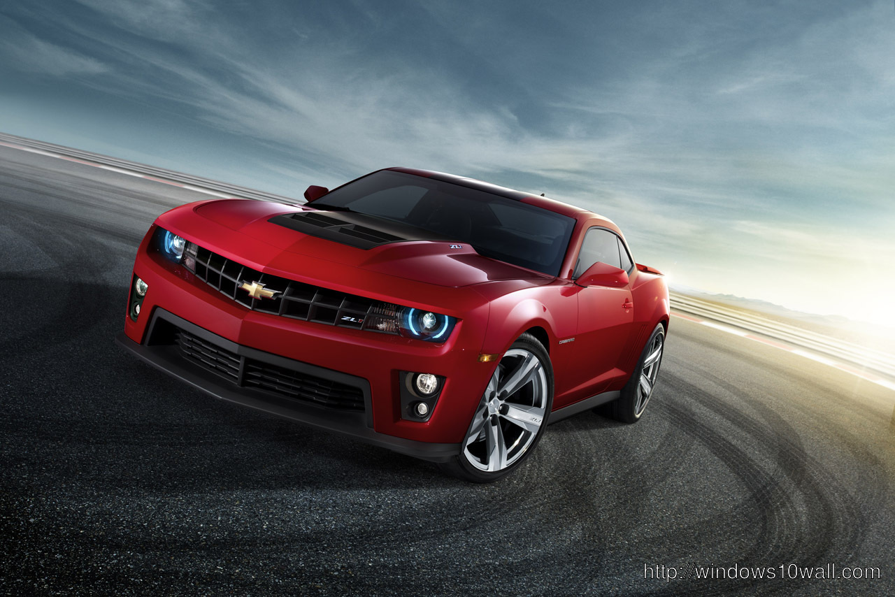 Chevrolet Camaro Red Color Wallpaper