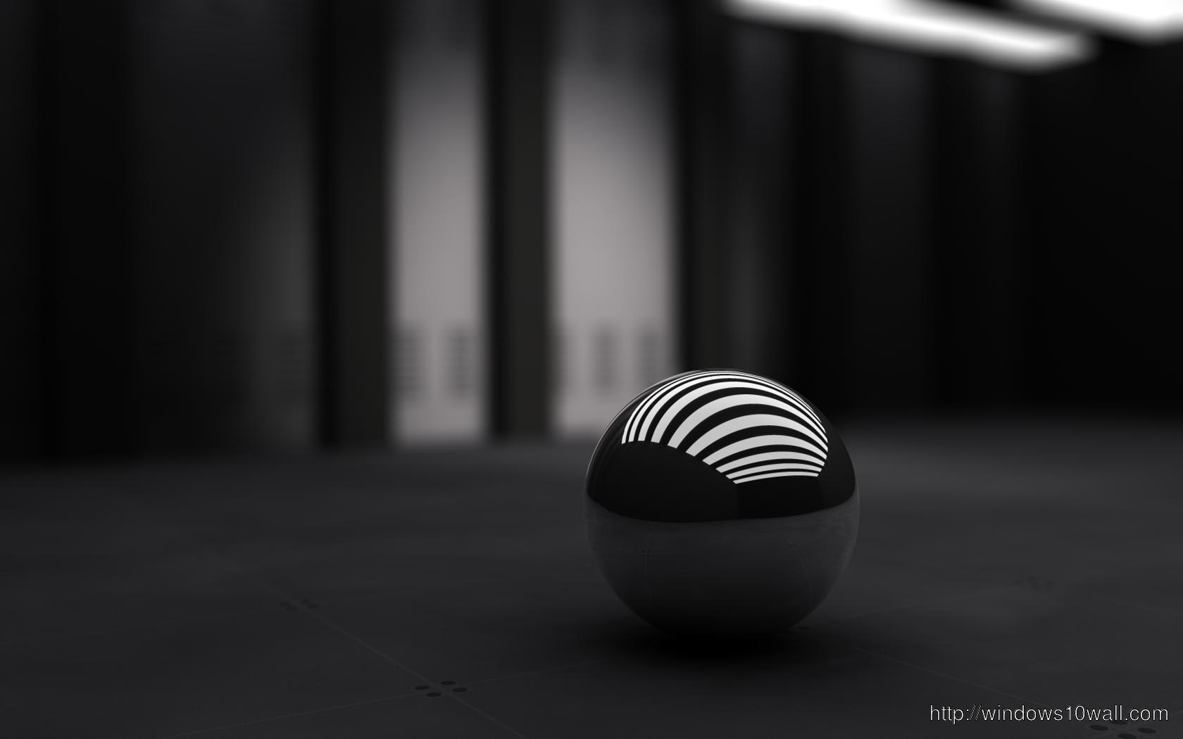 3D Black Ball Background Wallpaper