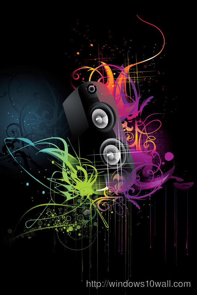 Abstract Music iPhone 4 Background Wallpaper
