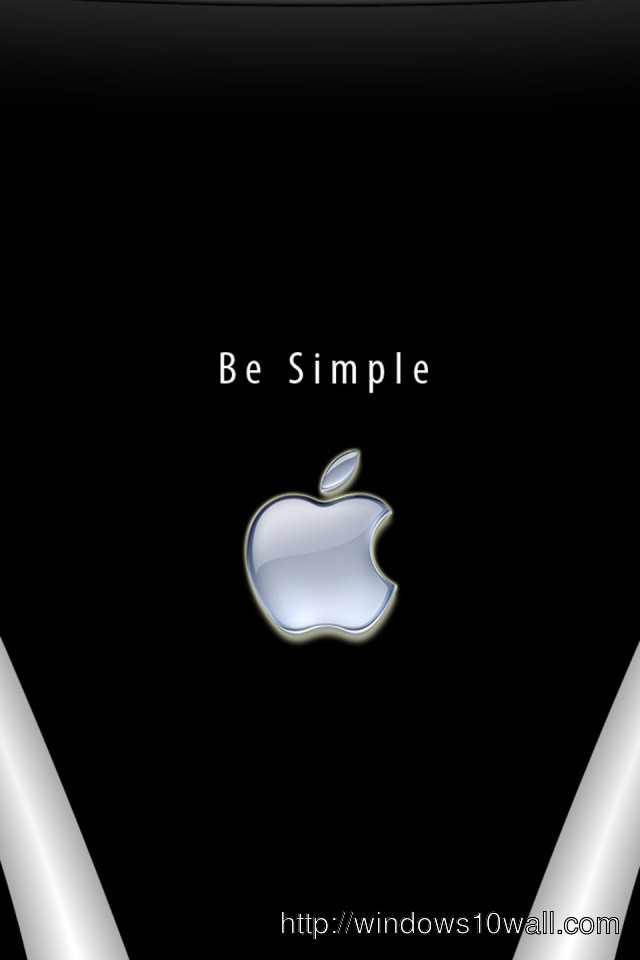 Be Simple iPhone 4/4s Background Wallpaper