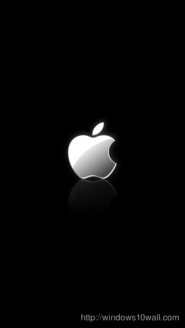 Apple Logo on Black Wallpaper for iPhone 5 Background Wallpaper