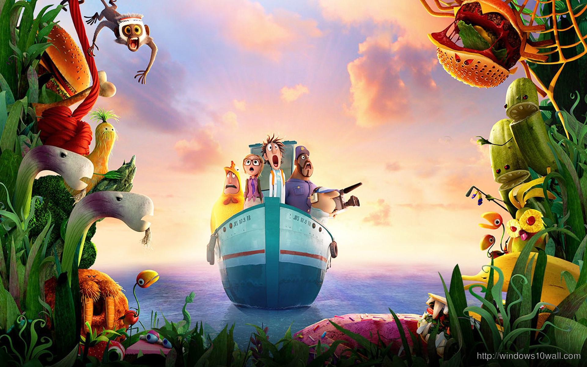 CLOUDY WITH A CHANCE OF MEATBALLS 2 BACKGROUND IMAGE