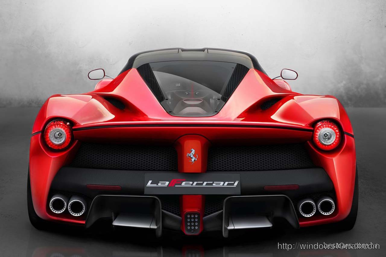 La Ferrari Back View Wallpaper