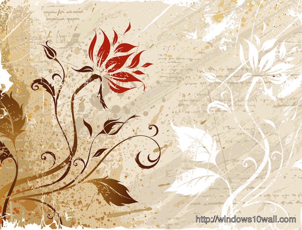 Vintage Floral Background Wallpaper