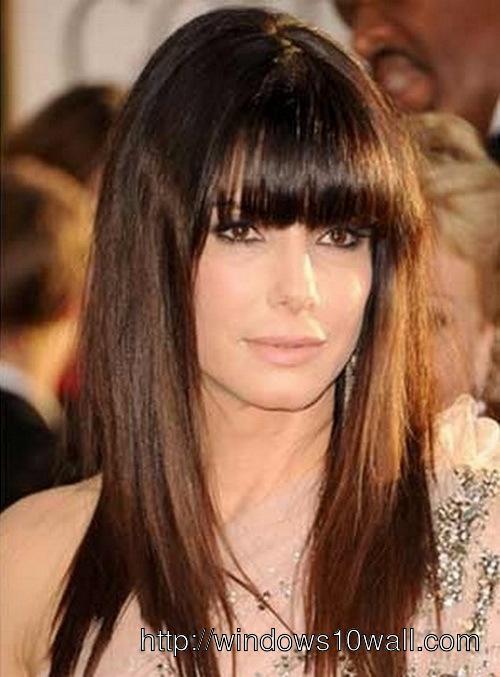 Sandra Bullock Long Hairstyle Wallpaper