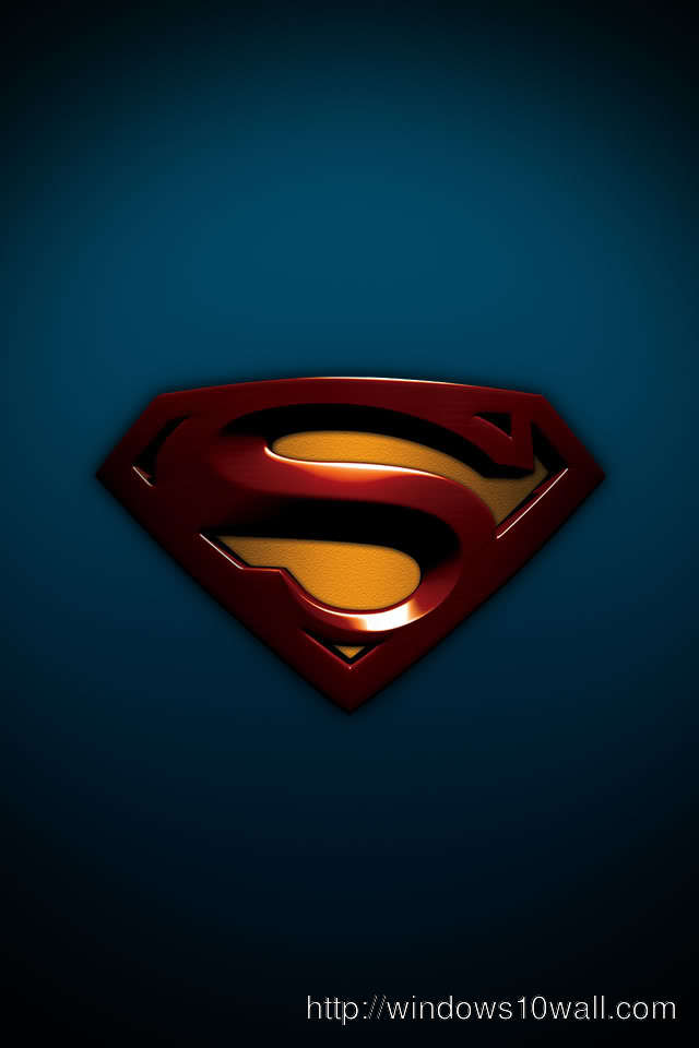 superman logo latest  Iphone 4 background wallpaper