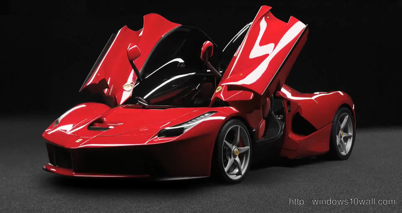 La Ferrari 2013 Background Wallpaper