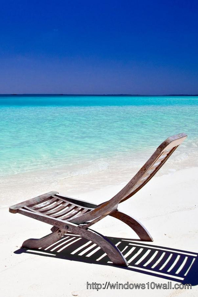 Paradise Beach Chair iPhone Background Wallpaper