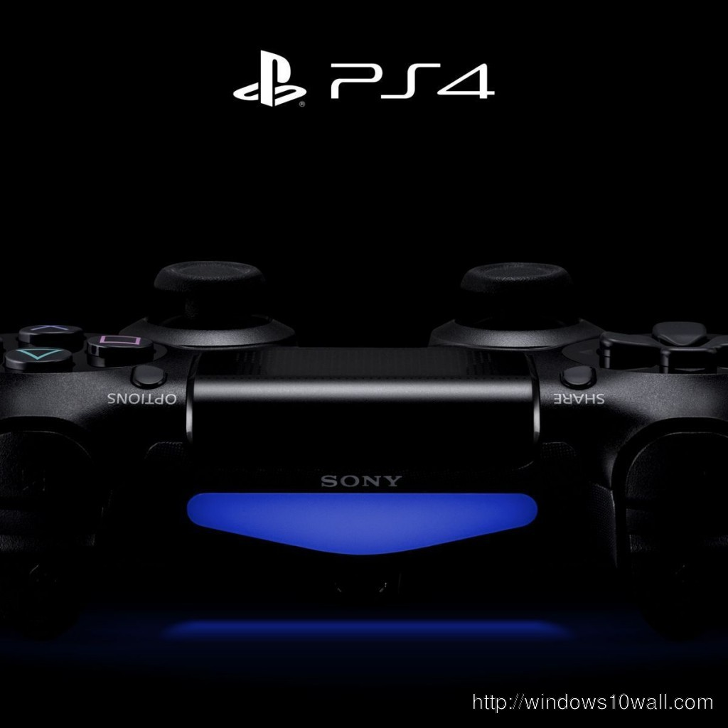 Black Background PS4 For iPad Wallpaper