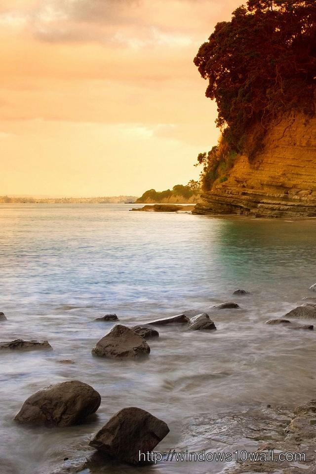 Sunset beach iPhone 4 Background Wallpaper
