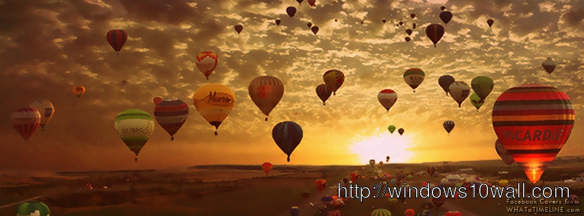 Hot Air Baloons Facebook Background Cover