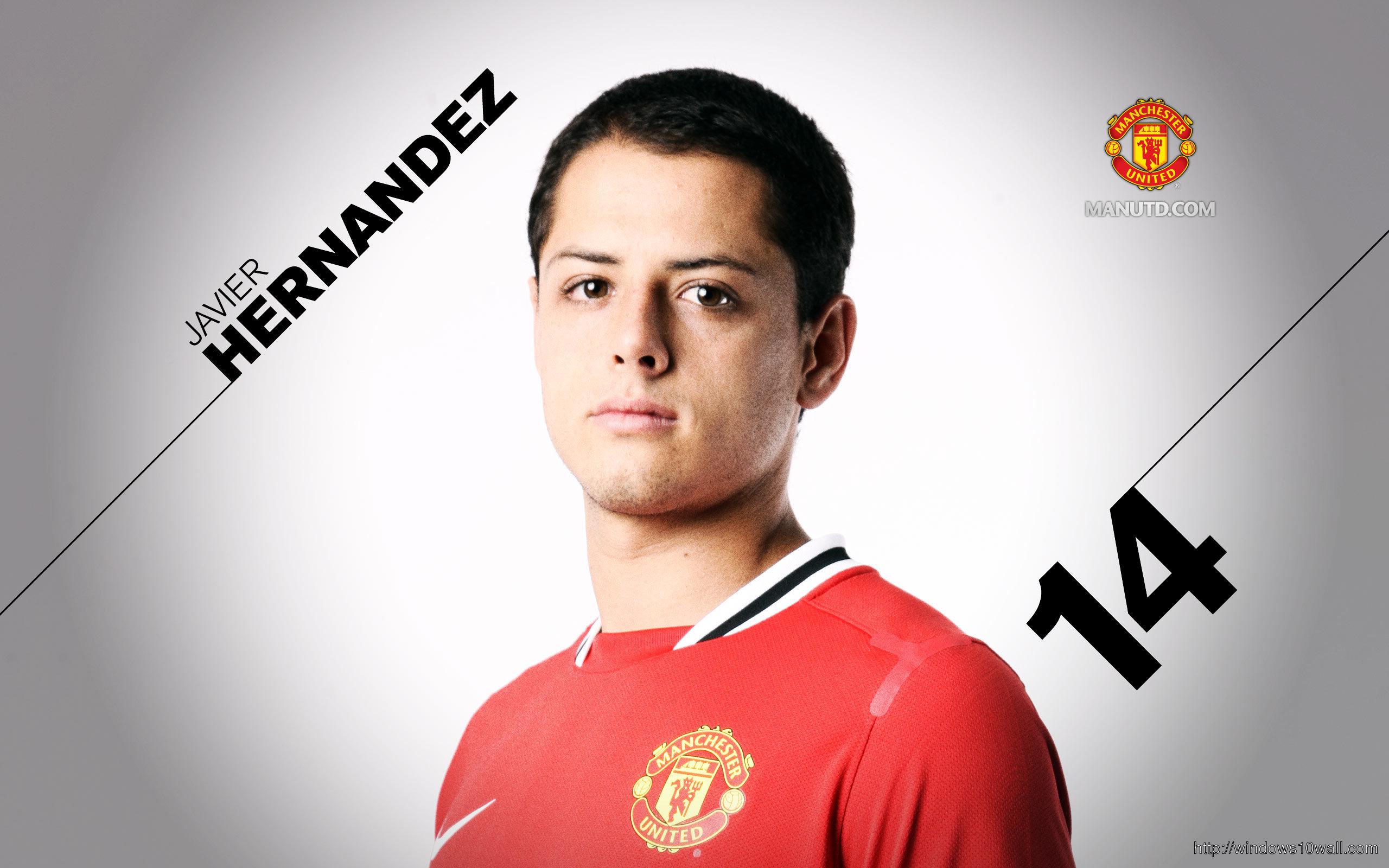 Chicharito Manchester United Background Wallpaper
