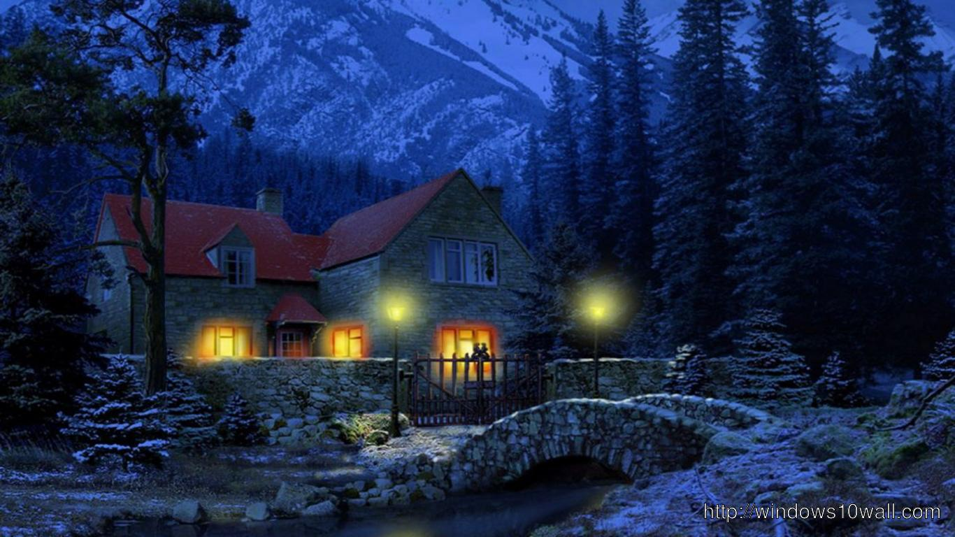 HD Dark Winter Night Background Wallpaper - windows 10 ...