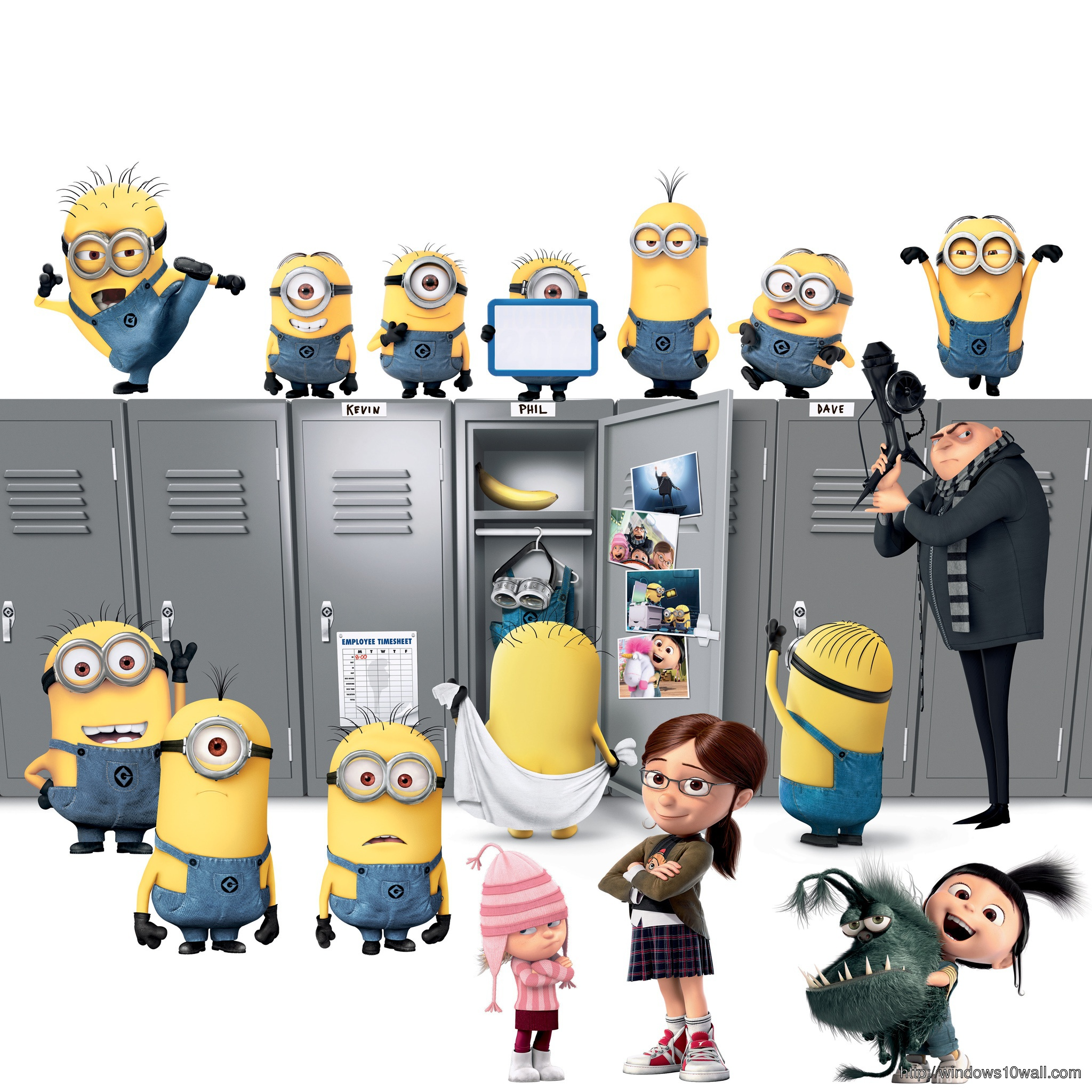 Despicable Me 3D Background Wallpaper