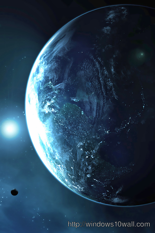 HD iPhone Earth Background Wallpaper