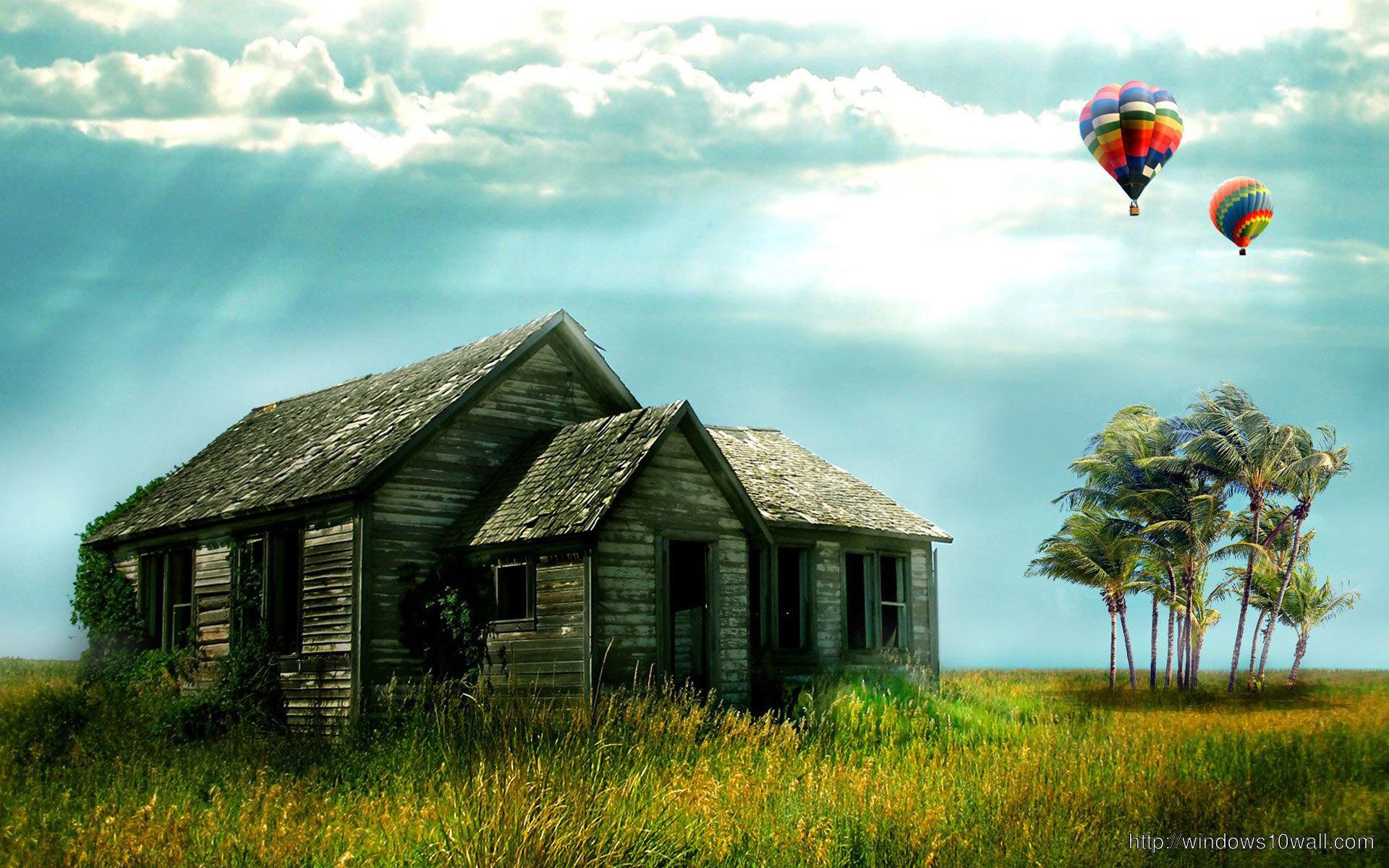 Free HD Desktop Background Wallpaper with Hot Air Balloon