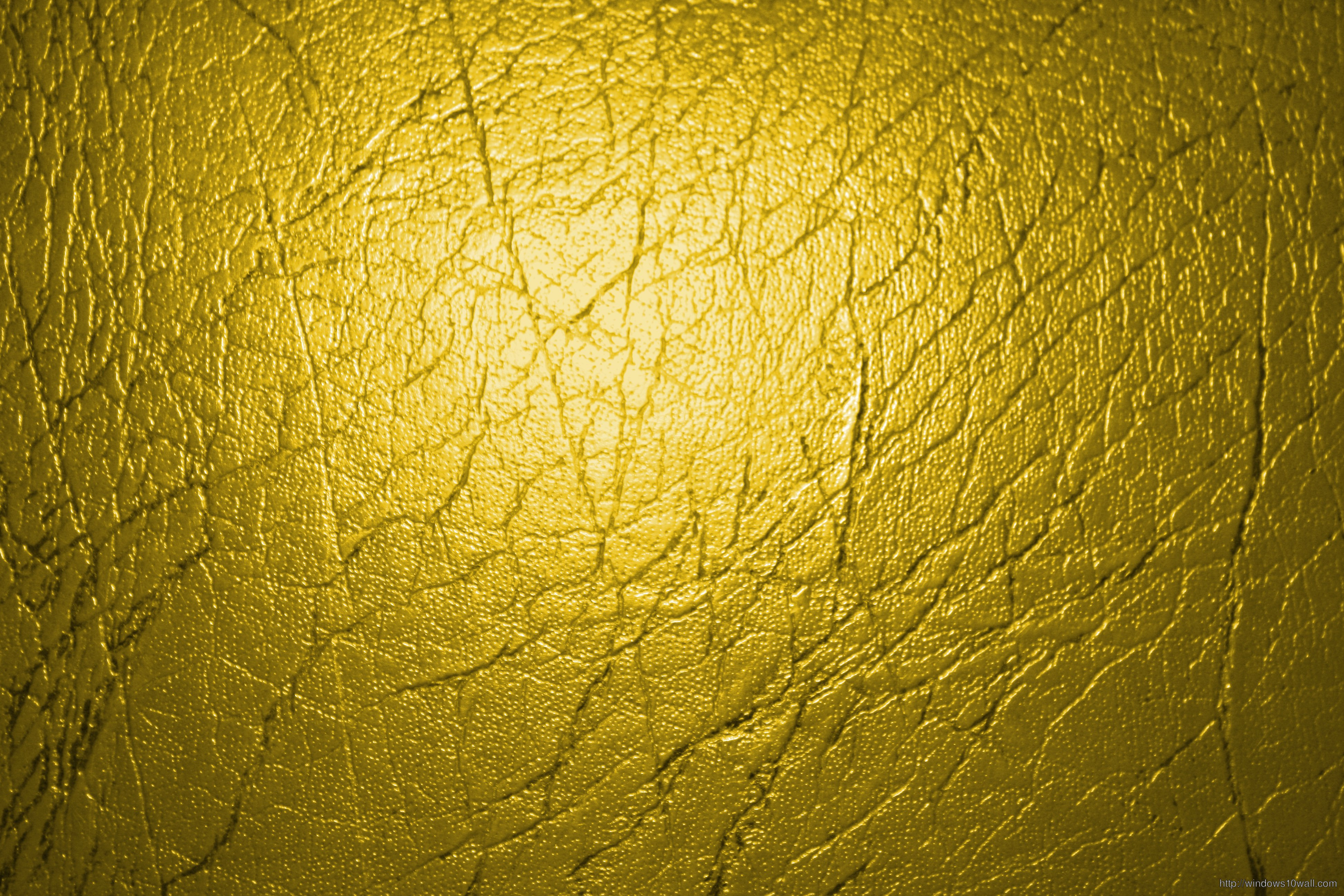 Gold Colored Leather Texture Background Wallpaper