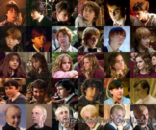 Evolution of the Harry Potter characters wallpaper