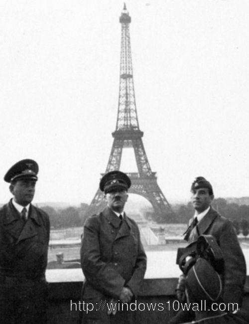 world famous Hitler in Paris Wallpaper