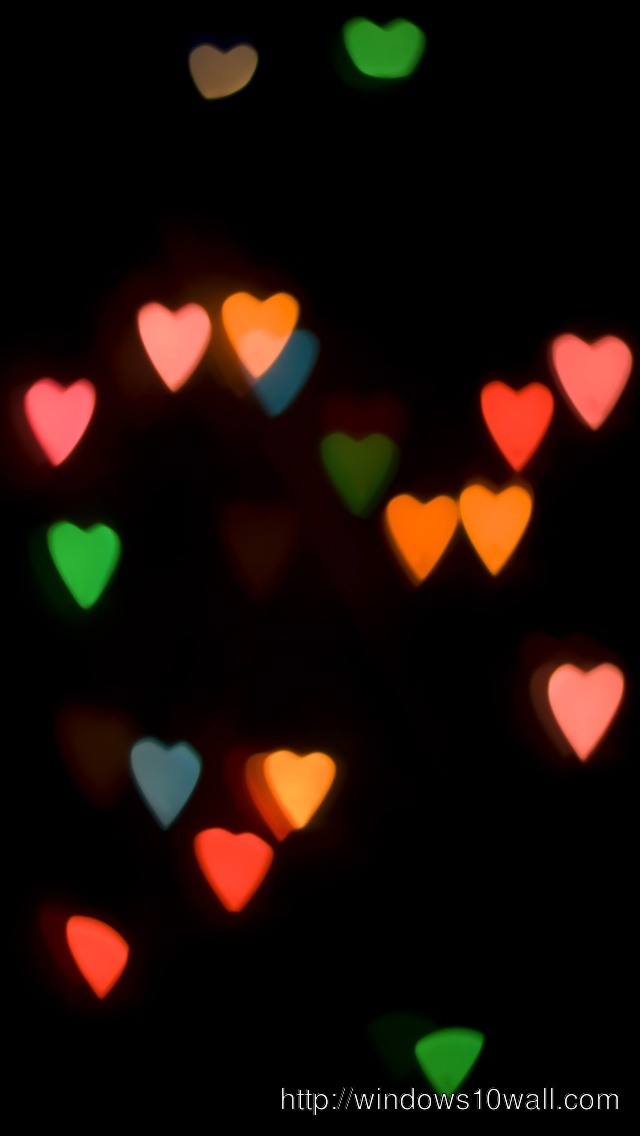 Abstract Heart Lights iPhone 5 Background Wallpaper