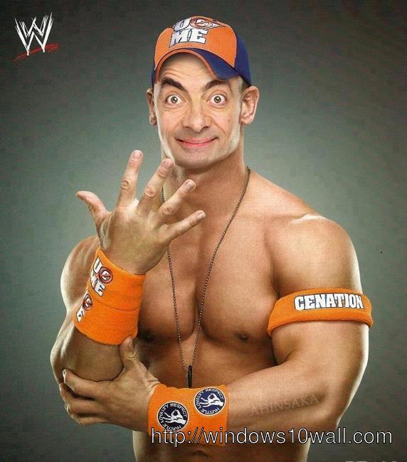 Funny Mr Bean John Cena WWE Wallpaper