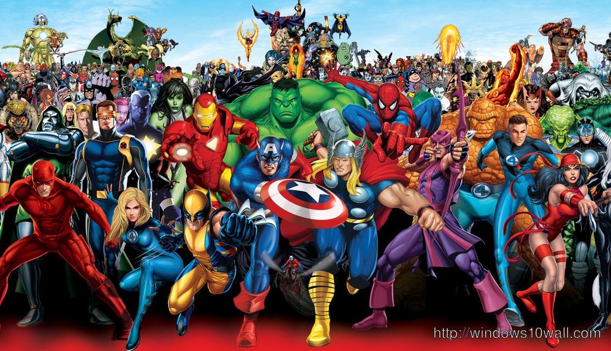 Marvel Heroes Widescreen Wallpaper