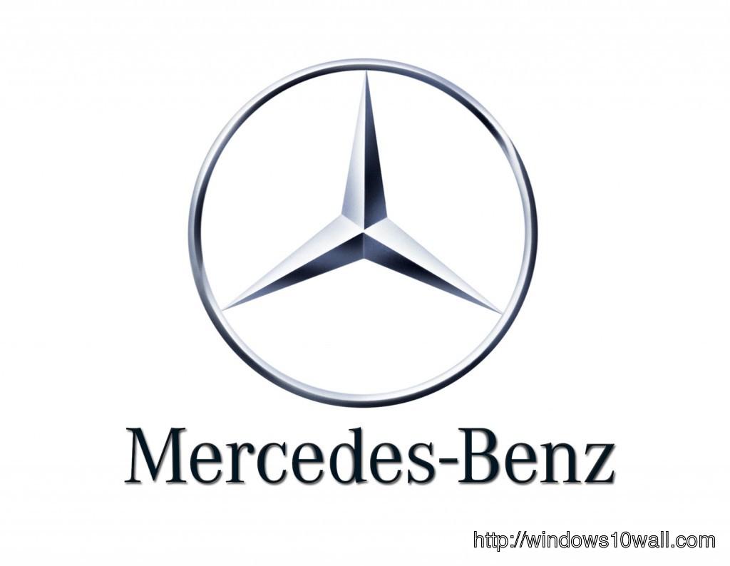 Large mercedes car background logo windows 10 wallpapers for Mercedes benz car logo
