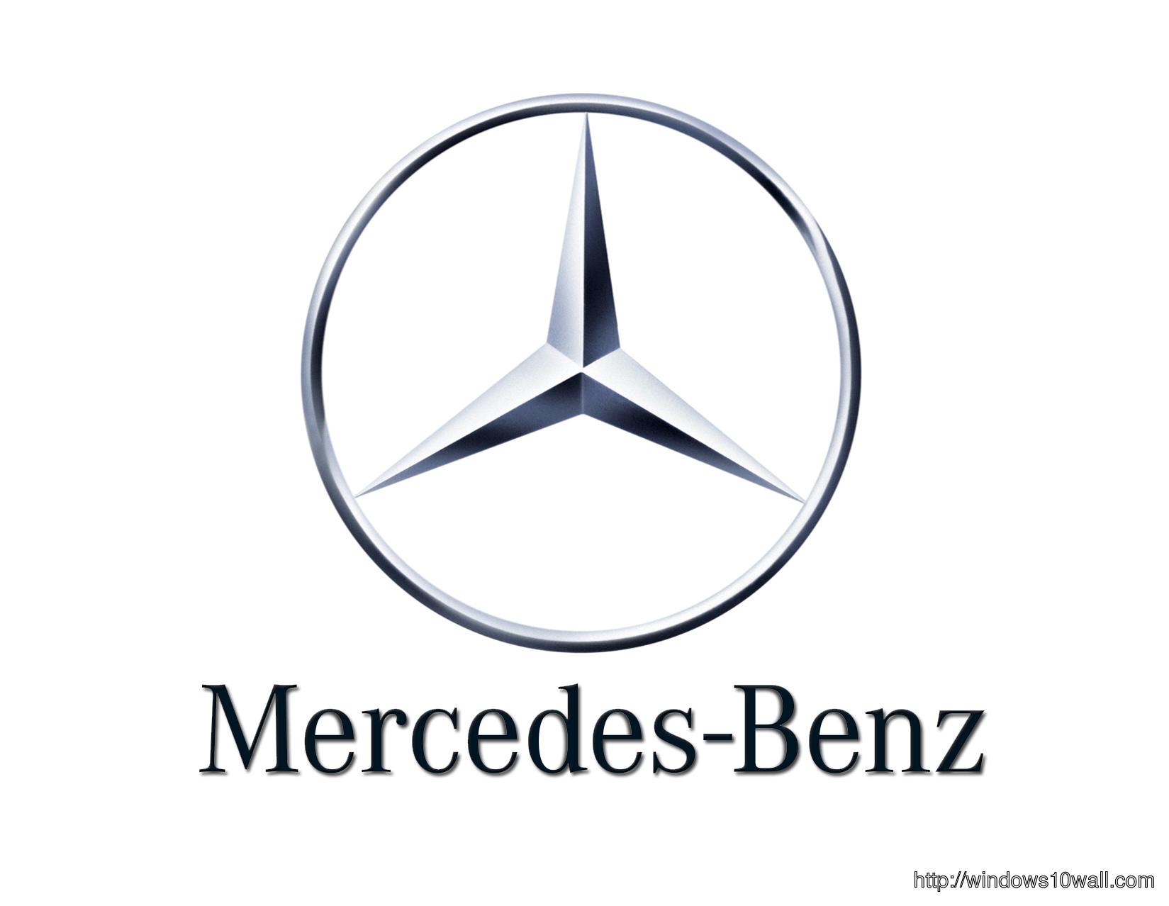 Large Mercedes Car Background Logo